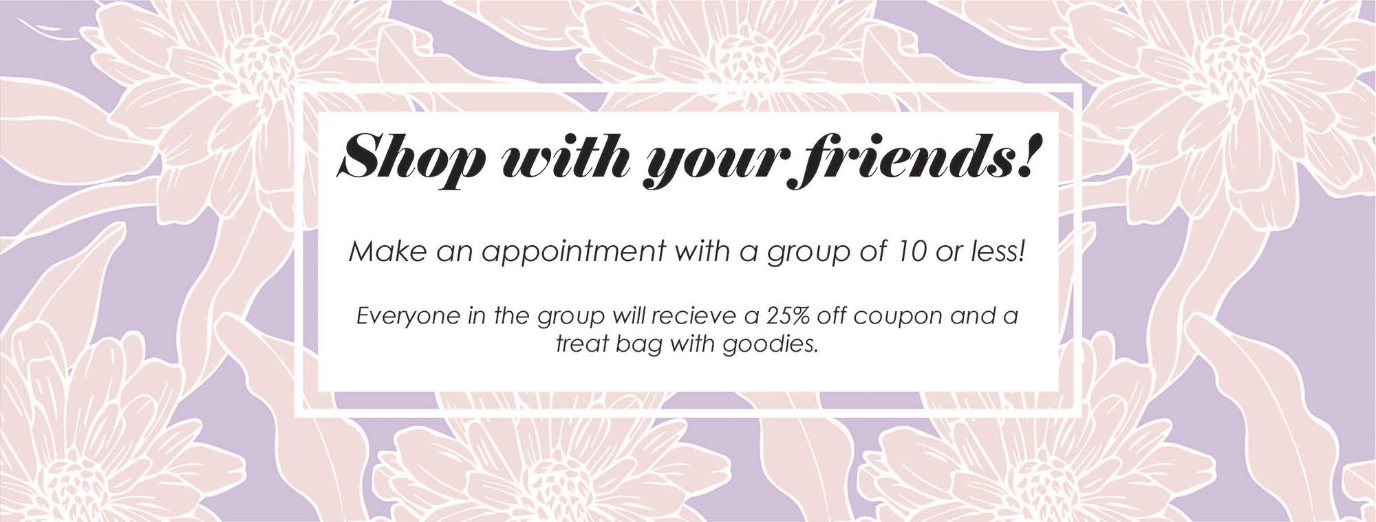 schedule a group shopping appointment