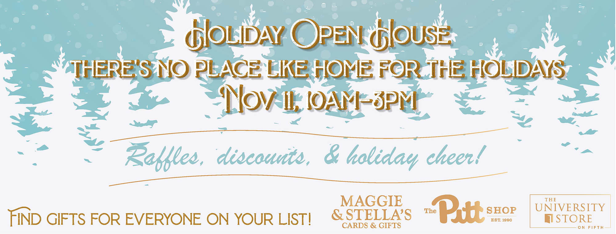 shop our holiday open house november eleventh