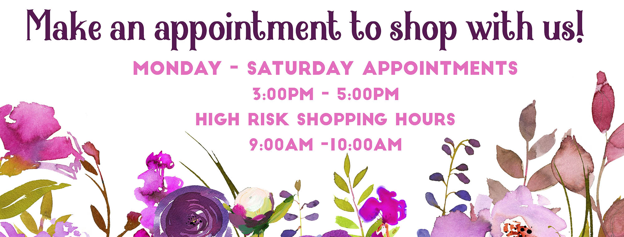 offering appointment shopping