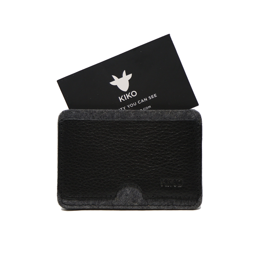 Kiko Leather - Combo Card Case - Black