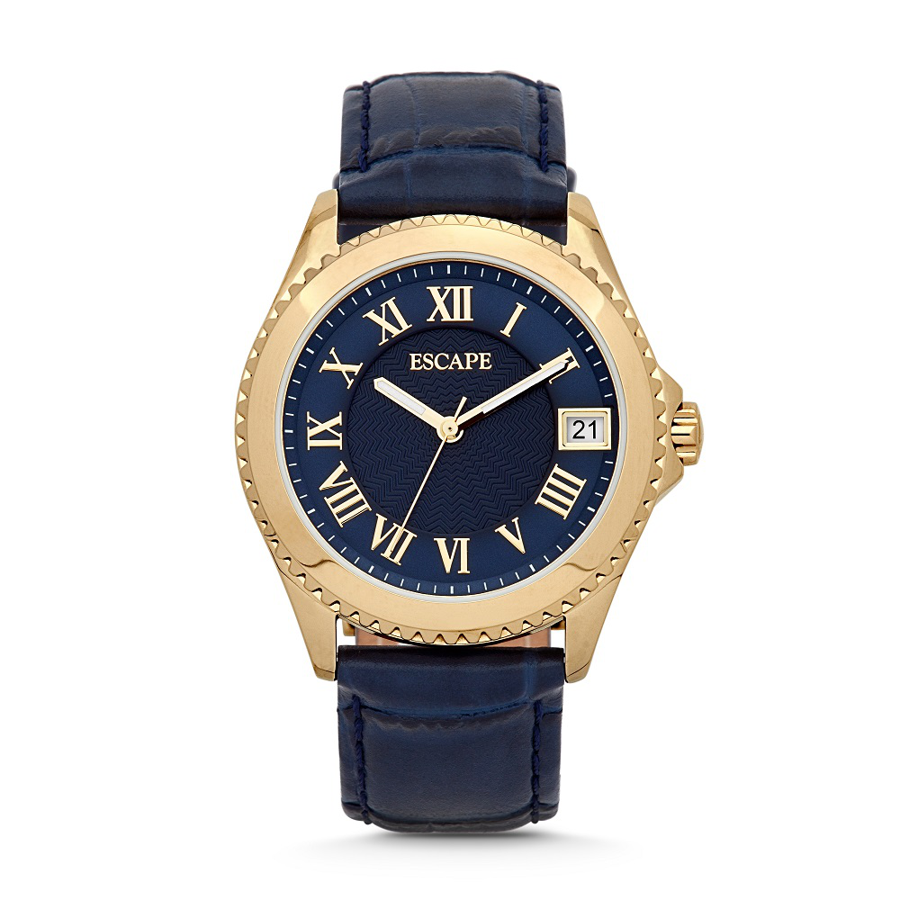 Escape Riviera - Ladies - Navy and Gold Watch