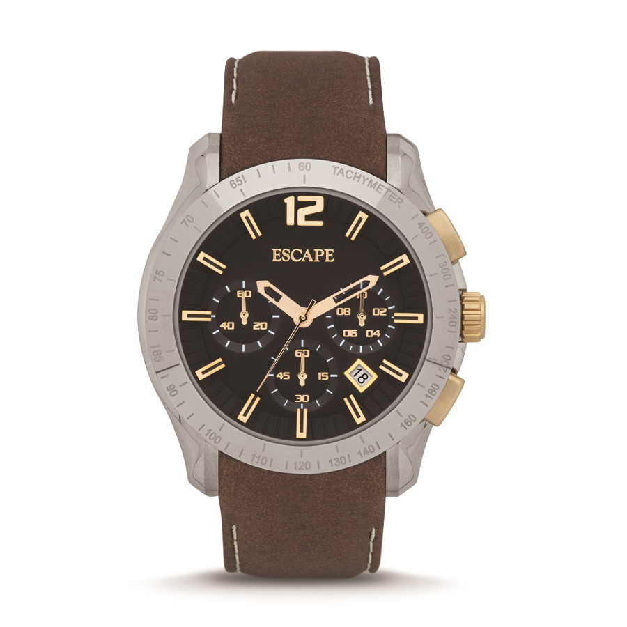 Escape Camber - Chronograph Leather Watch