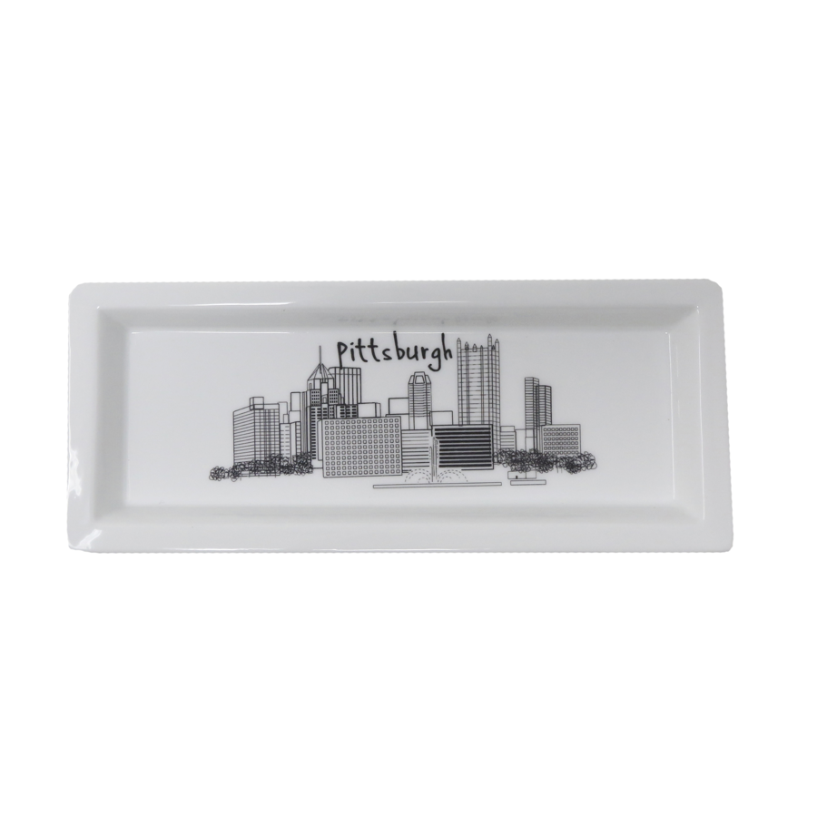 The Dish - Rectangle Plate - Pittsburgh Skyline