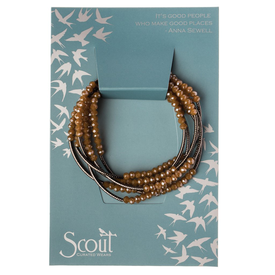 Scout Curated Wears - Metallic Wrap - Caramel/Hematite