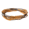 Scout Curated Wears - Metallic Wrap - Caramel/Hematite thumbnail