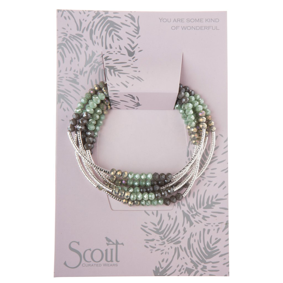 Scout Curated Wears - Metallic Wrap - Iced Mint/Silver