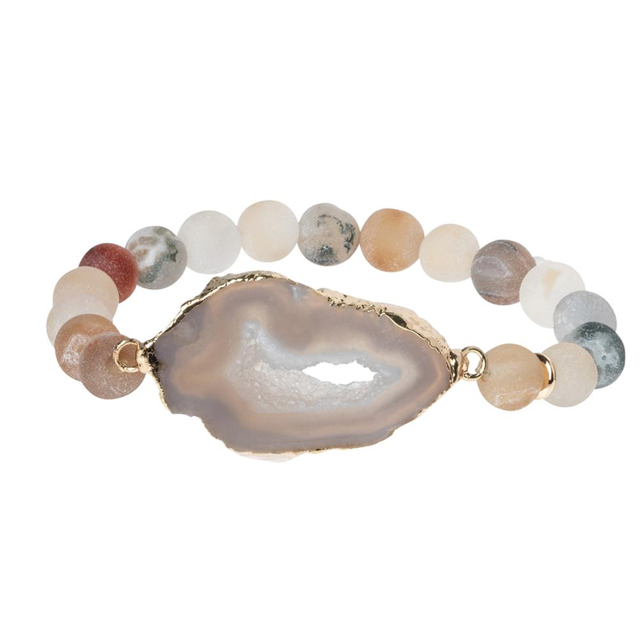 Scout Curated Wears - Geode Stacking Bracelet - Sand