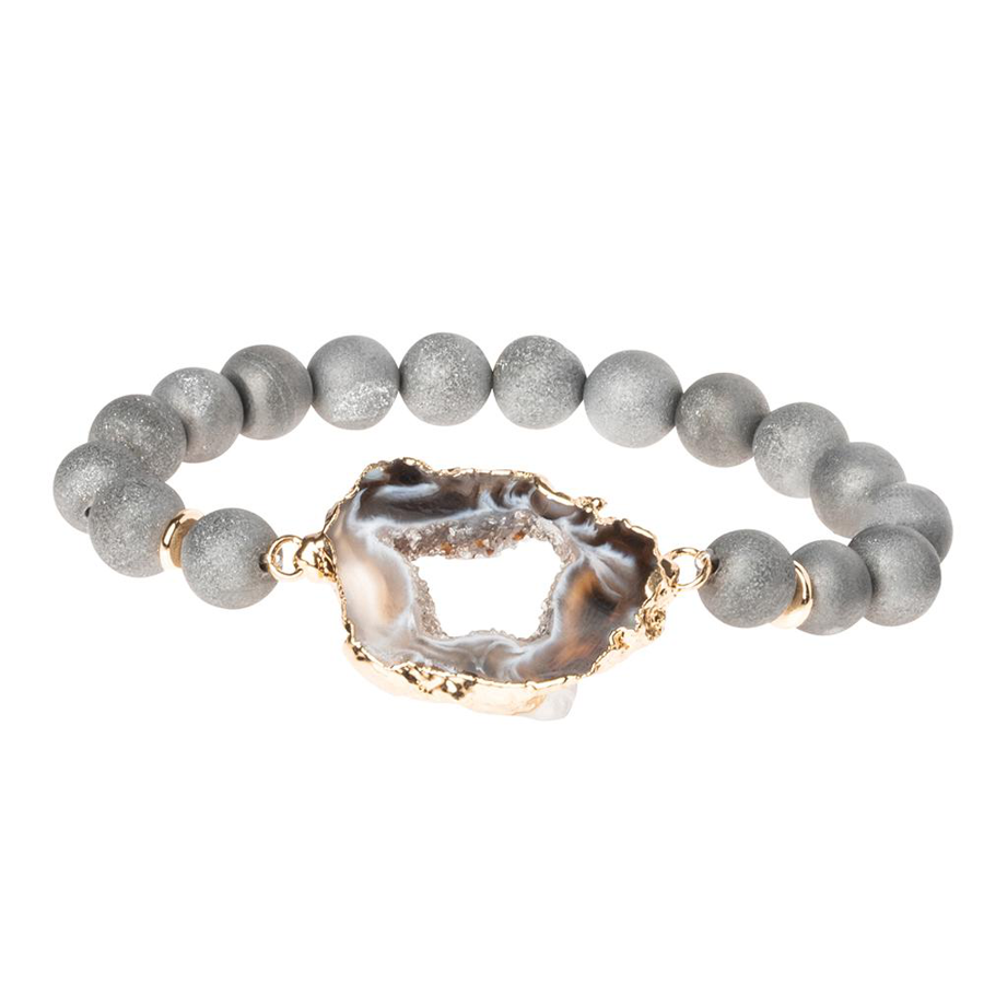 Scout Curated Wears - Geode Stacking Bracelet - Grey