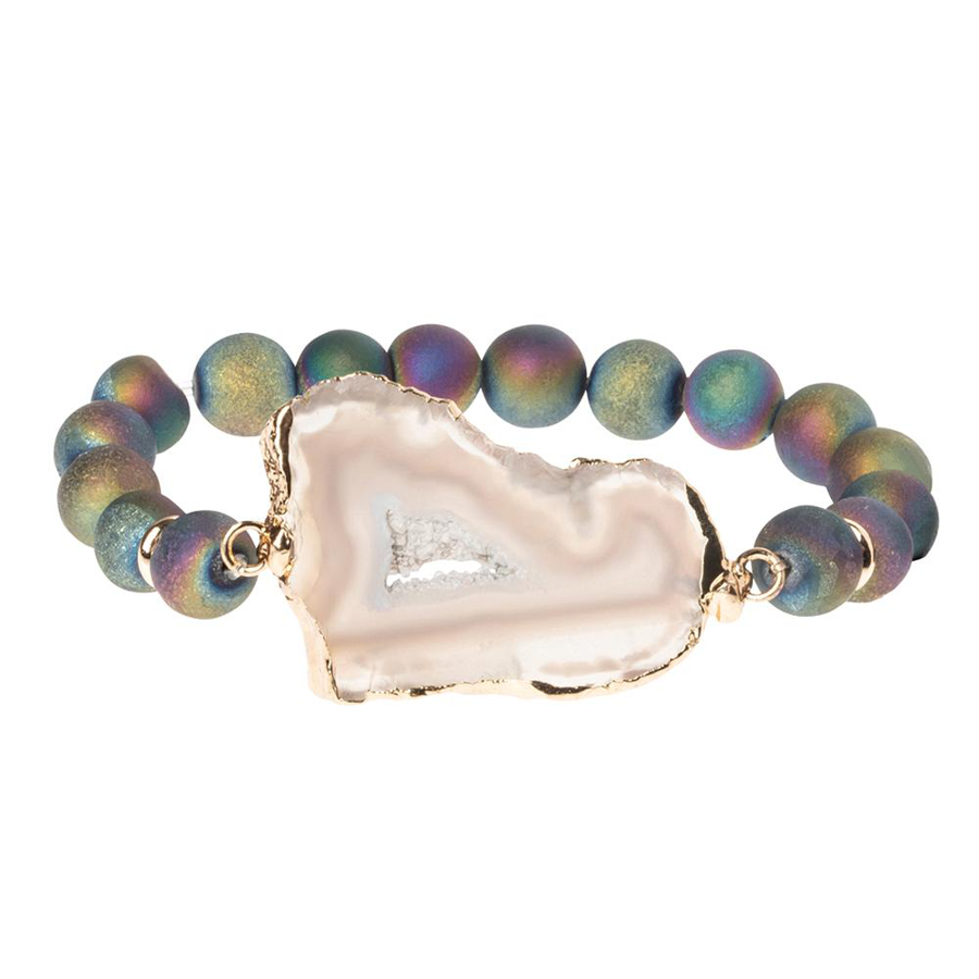Scout Curated Wears - Geode Stacking Bracelet - Oil Slick