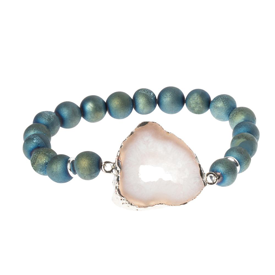 Scout Curated Wears - Geode Stacking Bracelet - Neptune