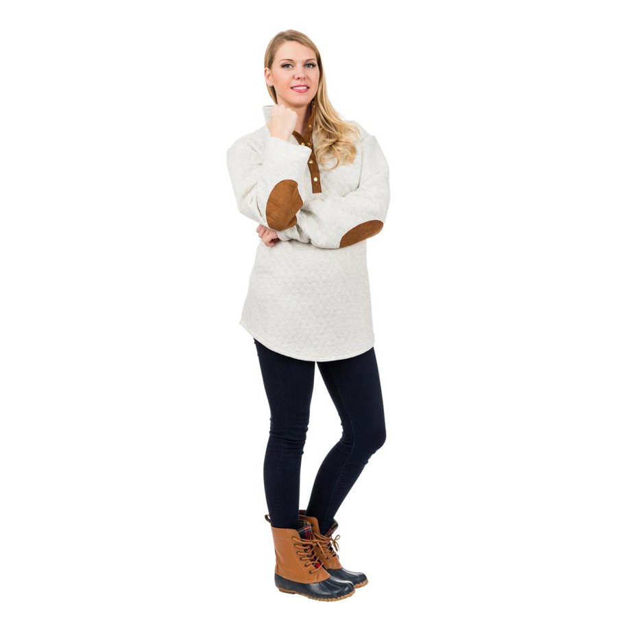 Top It Off - Pullover - Oatmeal - SMALL