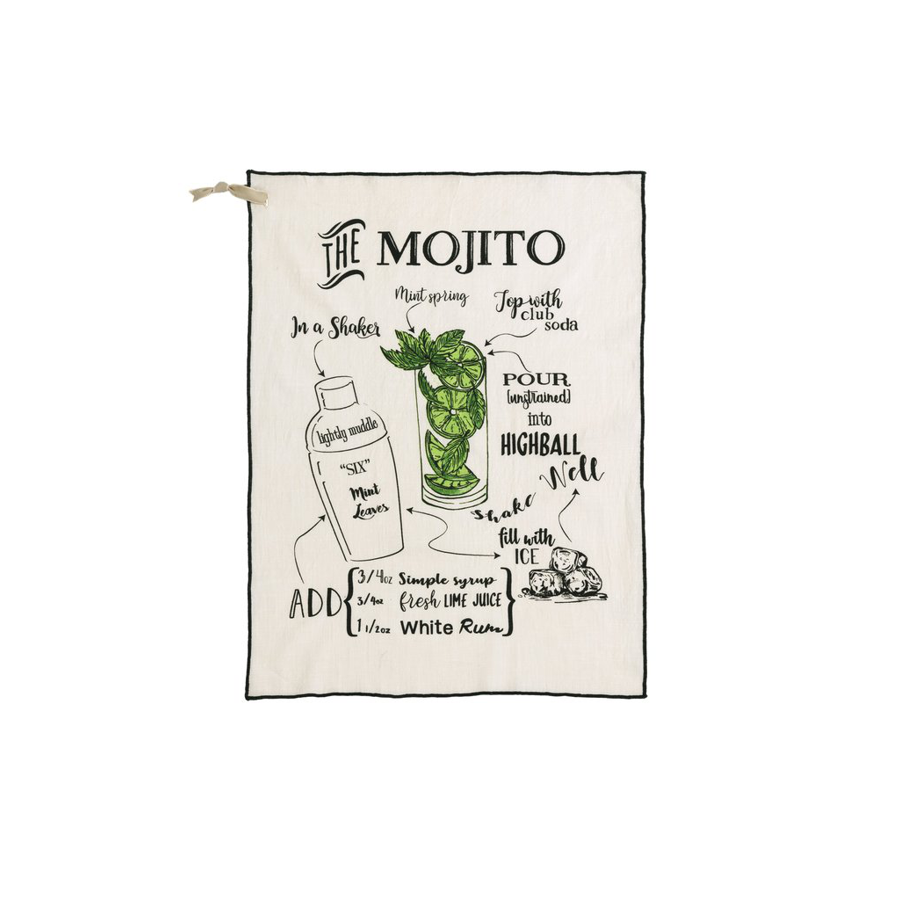 Shiraleah - Tea Towel - Mojito