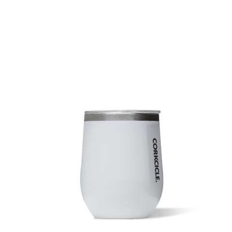 Corkcicle - 12 oz. Stemless Wine - White