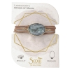 Scout Curated Wears - Stone Suede Wrap - Labradorite