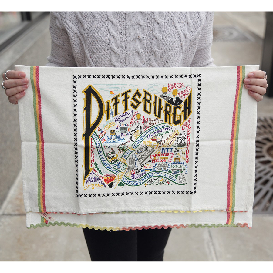 Image For Catstudio - Dish Towel - Pittsburgh