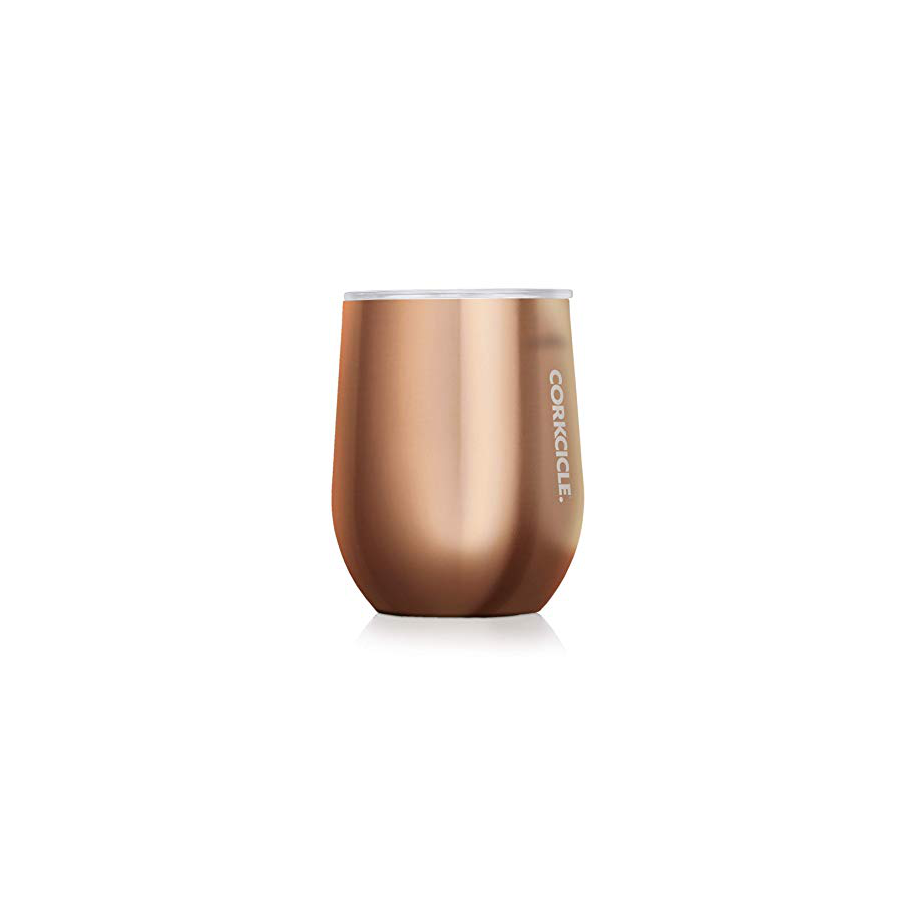 Image For Corkcicle - 12 oz. Stemless Wine - Copper