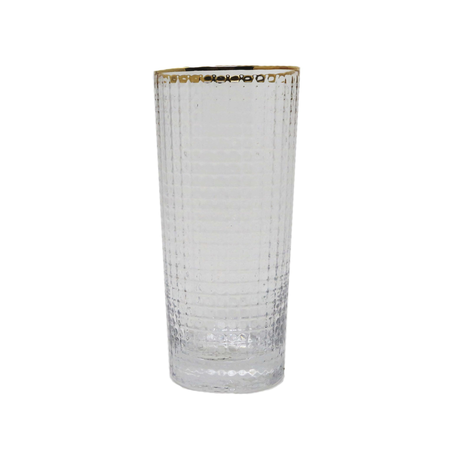 Image For Bloomingville - Drinking Glass - Gold Rim