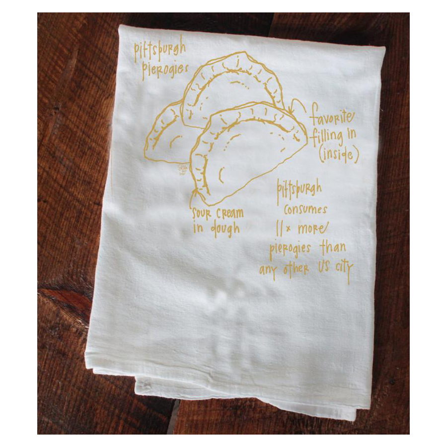 Image For Girls Can Tell - Pierogies Tea Towel