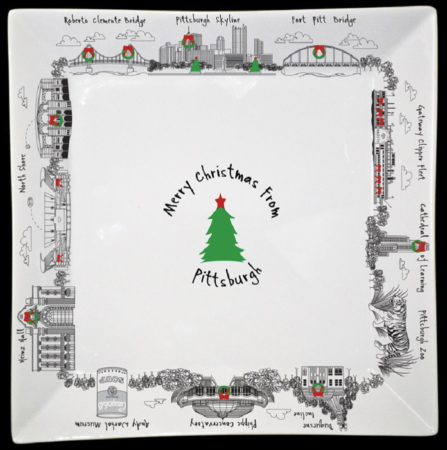 Image For Midpoint - Small Plate - Christmas from Pittsburgh