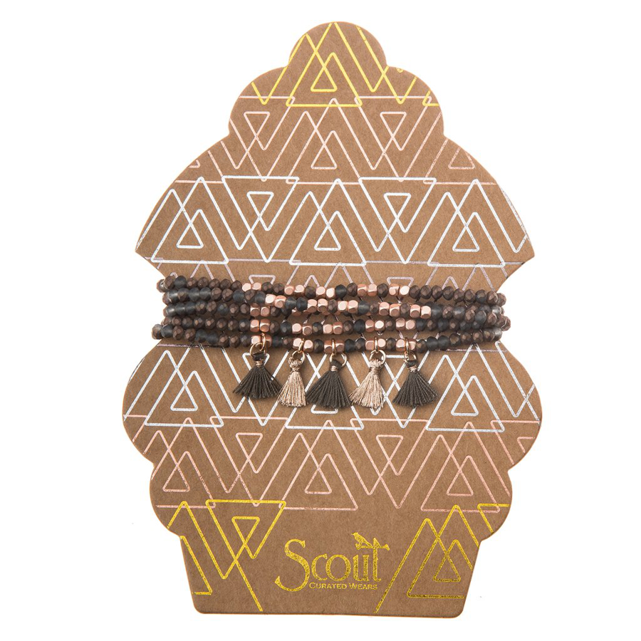 Image For Scout Curated Wears - Tassel Wrap - Bronze and Rose Gold