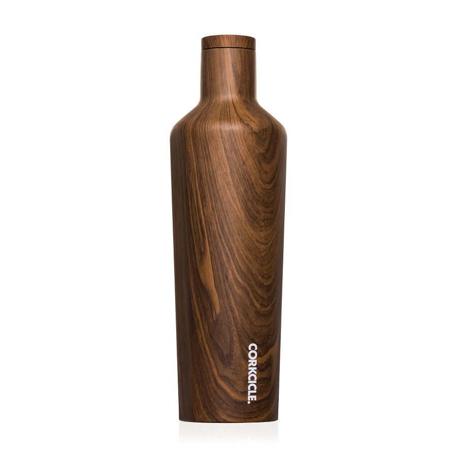 Image For Corkcicle - 25 oz. Canteen - Walnut Wood