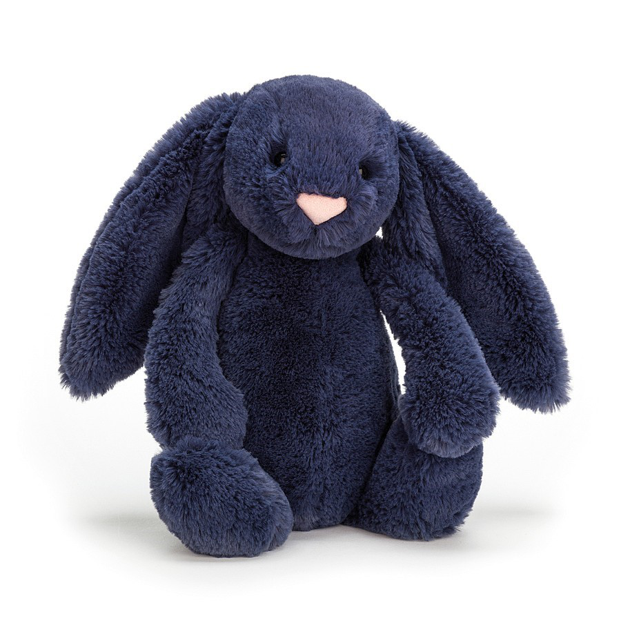Image For Jellycat - Bashful Bunny Medium - Navy