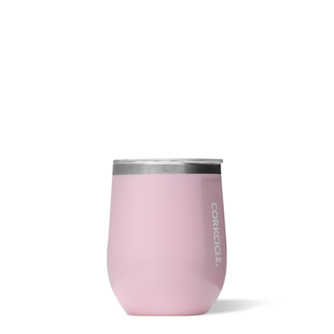 Image For Corkcicle - 12 oz. Stemless Wine - Rose Gloss