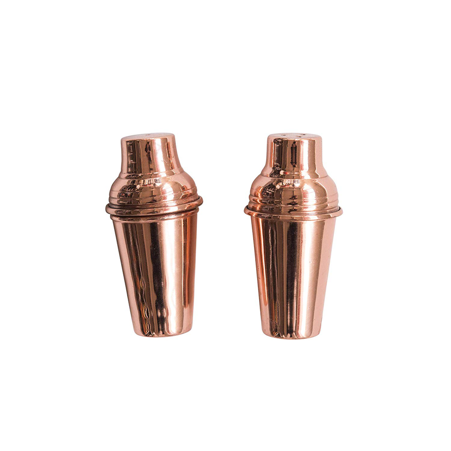 Image For Creative Co-Op - Salt and Pepper Shaker Set - Copper