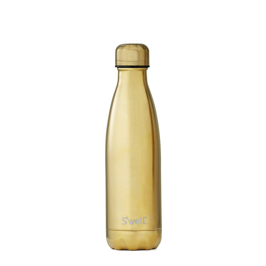 Image For S'well - 17oz. Bottle - Metallic Yellow Gold