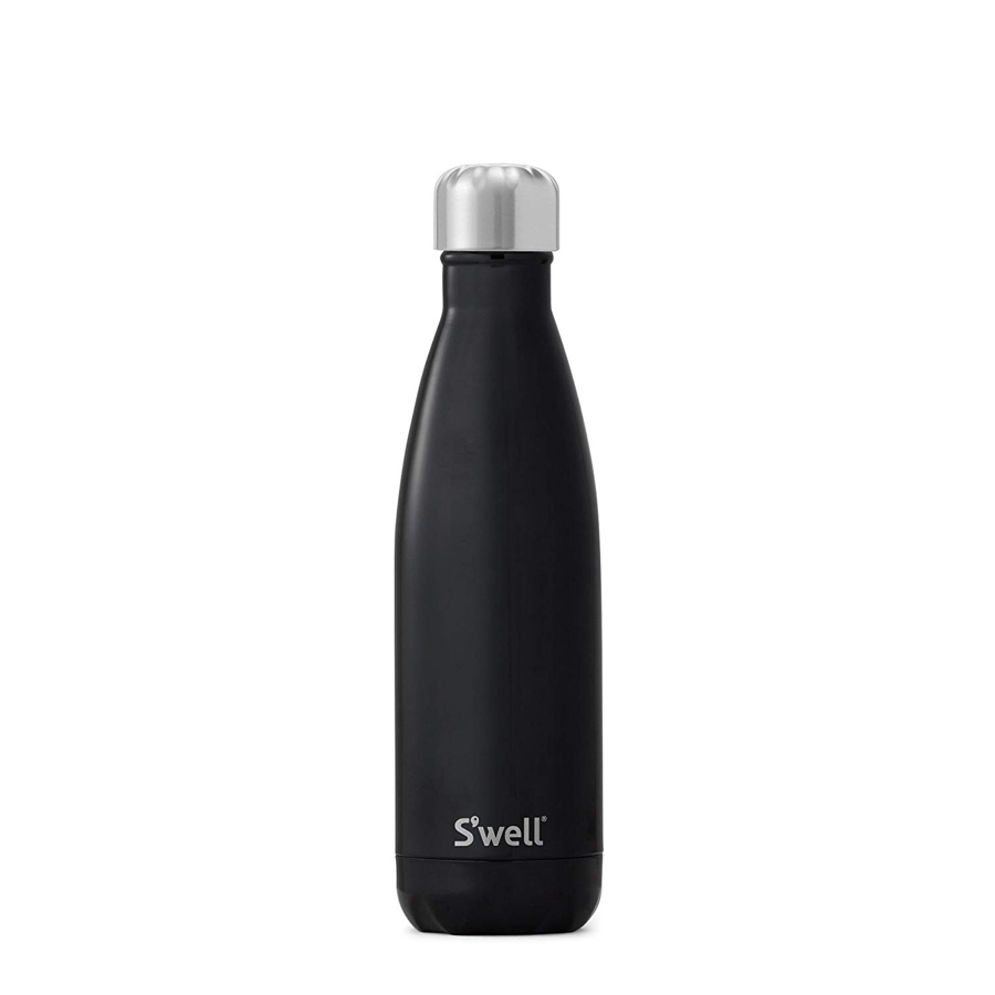 Image For S'well - 17oz. Bottle - Midnight Black