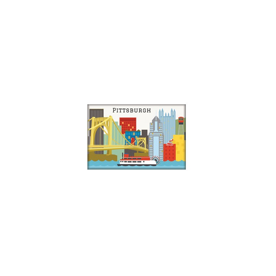 Image For The Found - Magnet - Pittsburgh Skyline