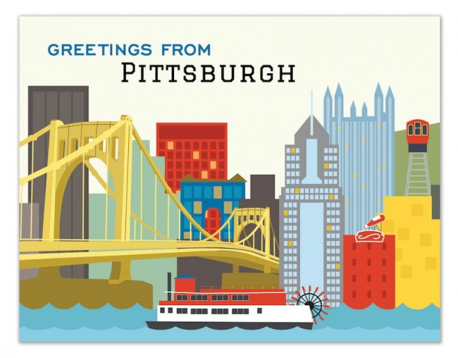 Image For The Found Gifts and More - Card - Pittsburgh Skyline