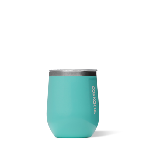 Image For Corkcicle - 12 oz. Stemless Wine - Turquoise