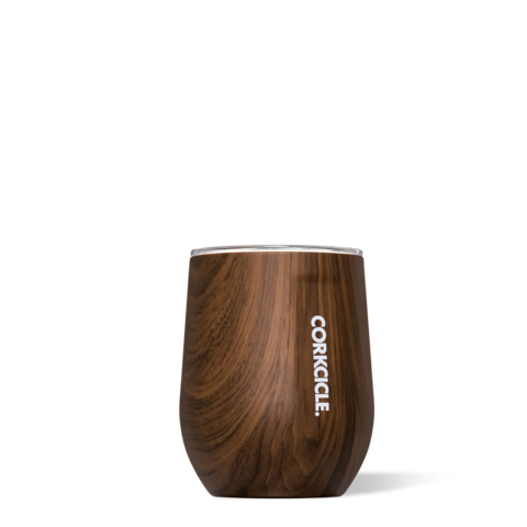 Image For Corkcicle - 12 oz. Stemless Wine - Walnut Wood