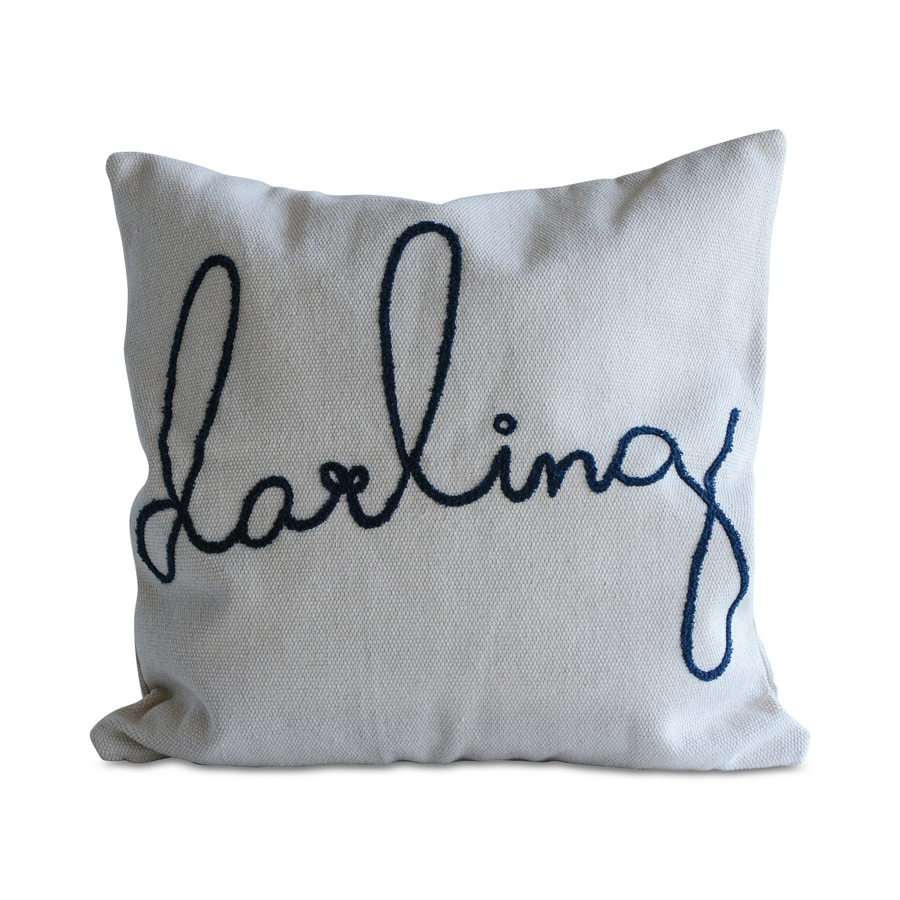 Image For Creative Co-Op - Square Pillow - Darling