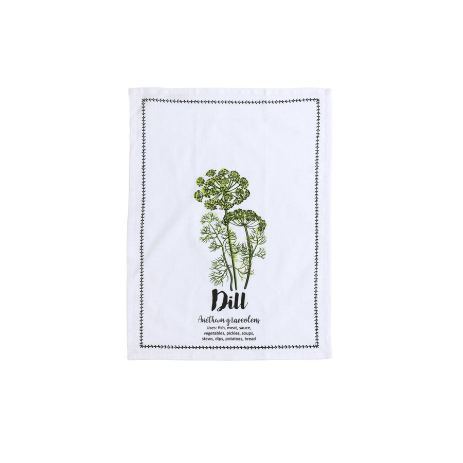 Image For Shiraleah - Tea Towel and Spoon Set - Dill