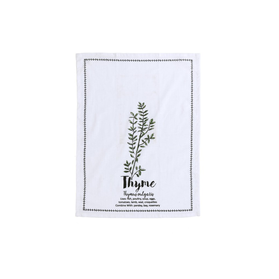 Image For Shiraleah - Tea Towel and Spoon Set - Thyme