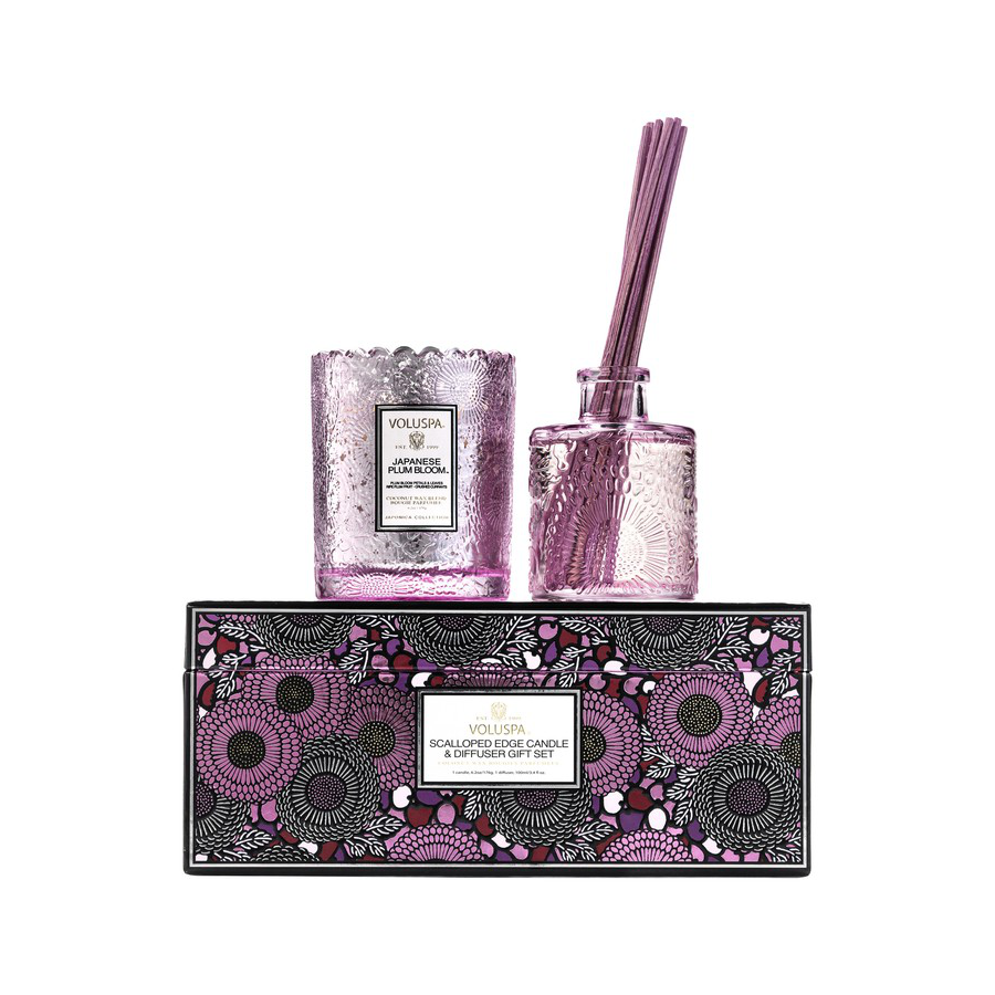 Image For Voluspa - Candle and Diffuser Gift Set - Japanese Plum Bloom
