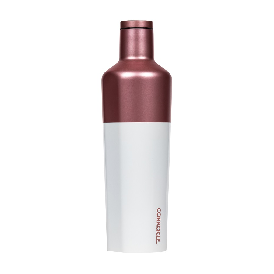 Image For Corkcicle - 25 oz. Canteen - Modern Rose