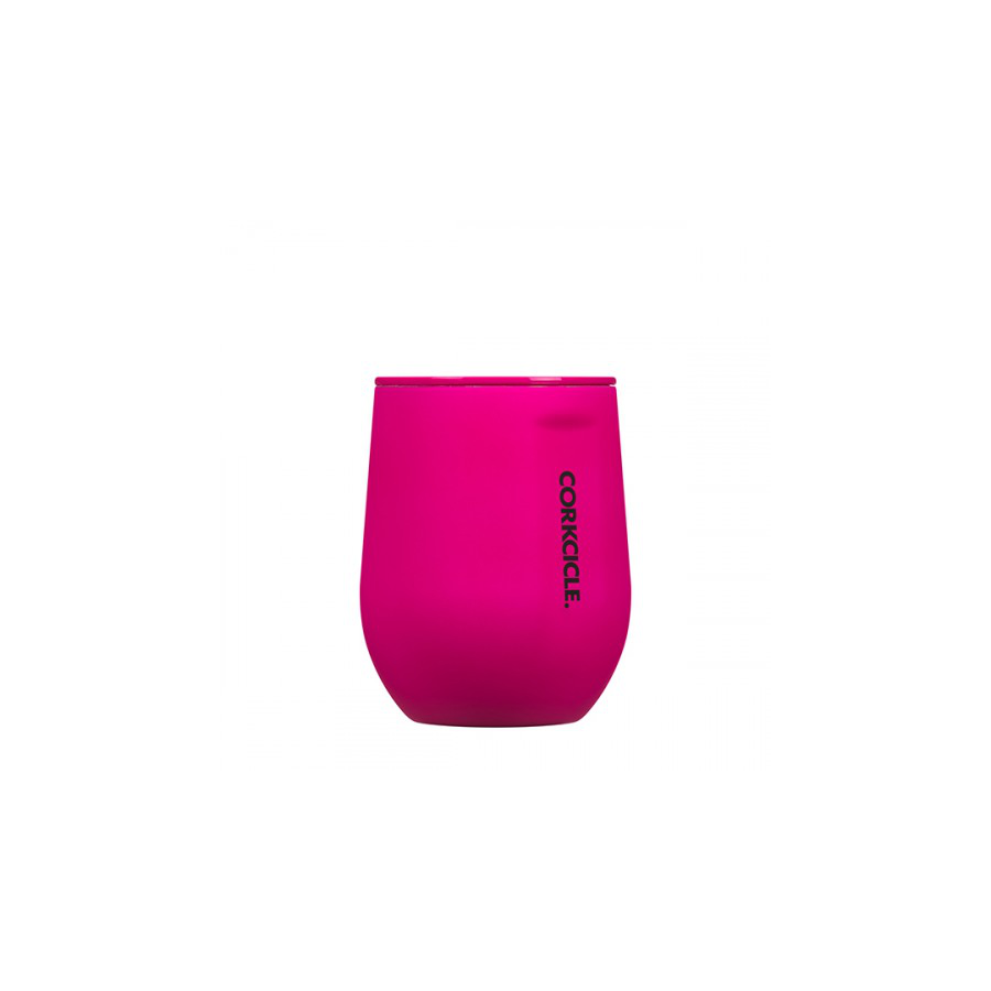 Image For Corkcicle - 12 oz. Stemless - Neon Pink