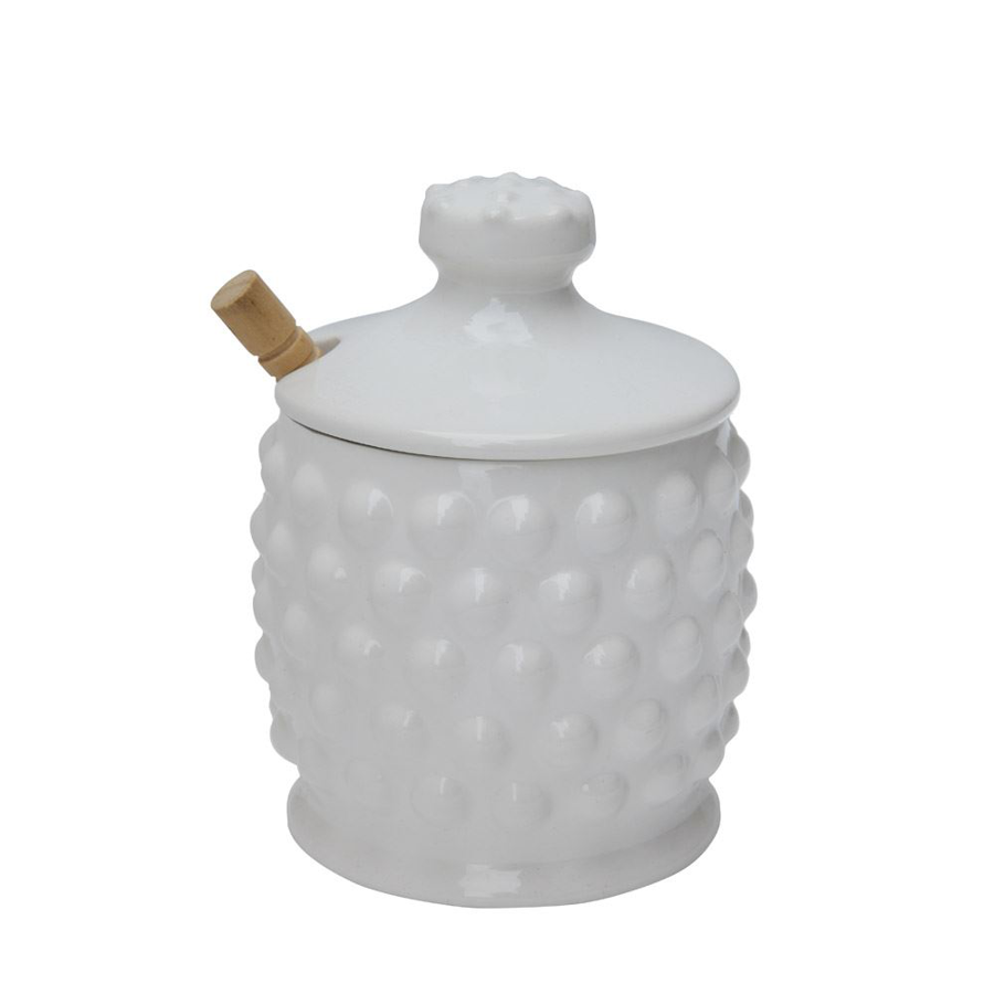 Image For Creative Co-Op - Honey Jar - White