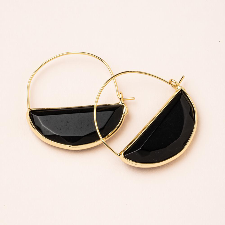 Image For Scout Curated Wears - Hoop - Black Spinel and Gold