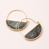 Cover Image for Scout - Rectangle Earrings - Labradorite / Gold