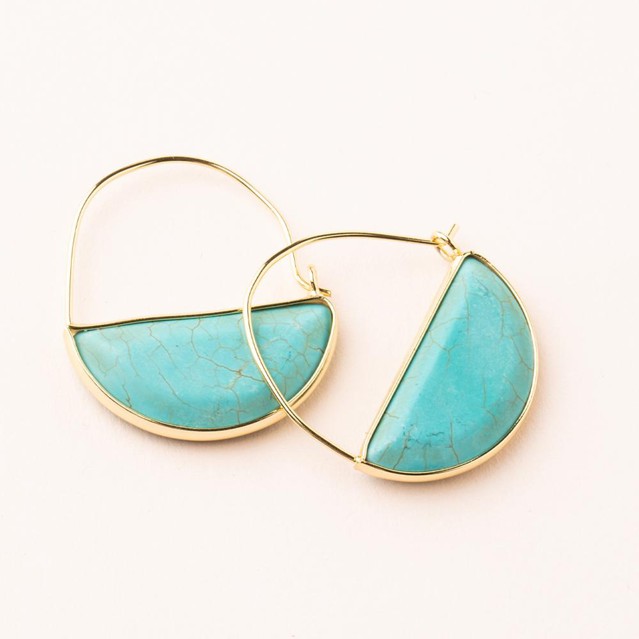Image For Scout Curated Wears - Hoop - Turquoise and Gold