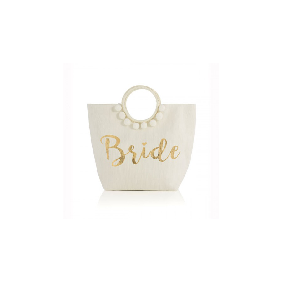 Image For Shiraleah - Ivory Tote - Bride
