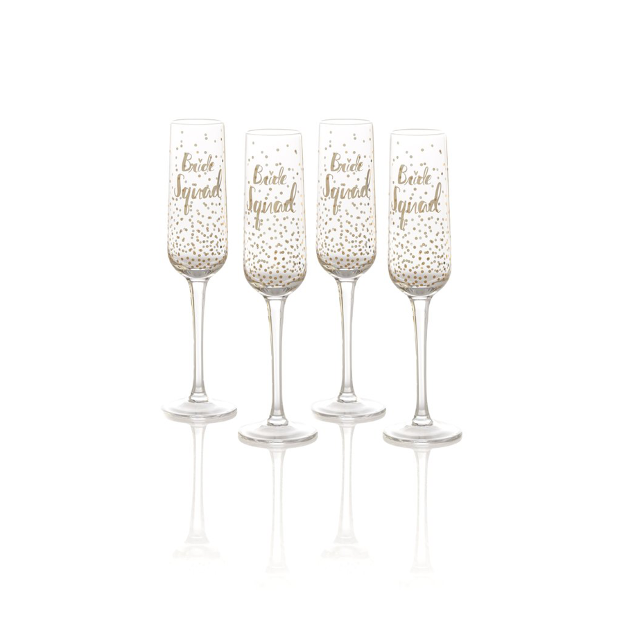 Cover Image For Shiraleah - Champagne Flute Set - Bride Squad