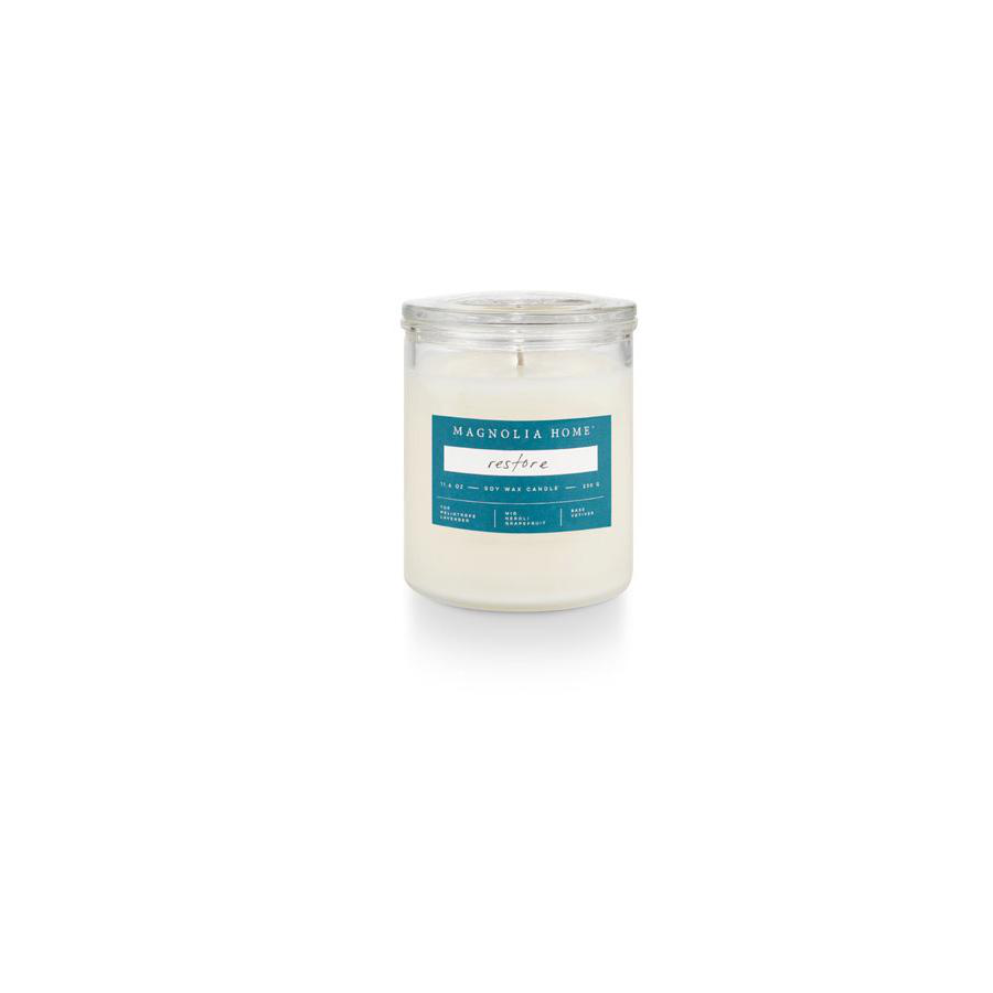 Image For Magnolia Home - Glass Jar Candle - Restore