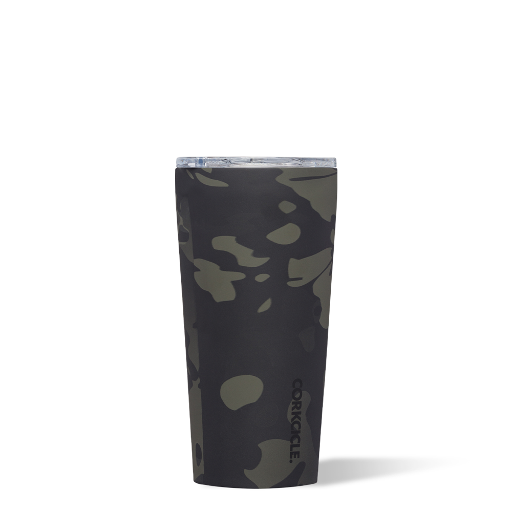 Image For Corkcicle - 16 oz. Tumbler - Black Camo