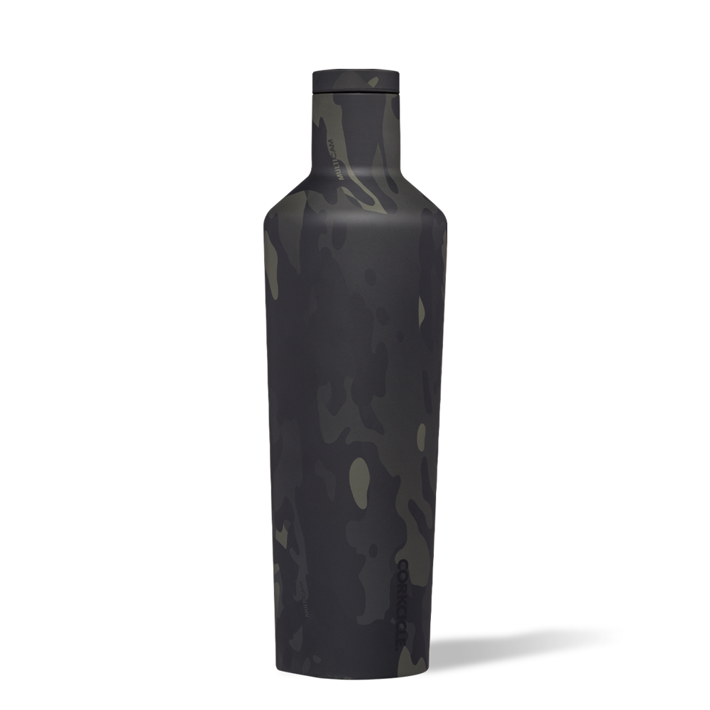 Image For Corkcicle - 25 oz. Canteen - Black Camo