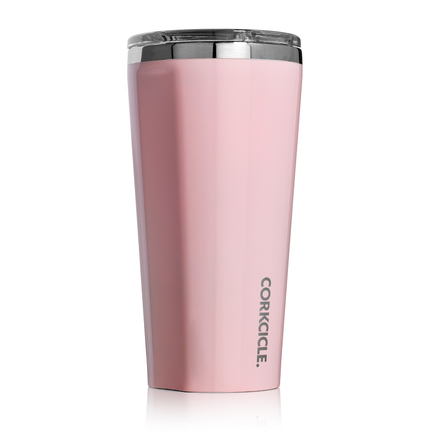 Cover Image For Corkcicle - 16 oz. Tumbler - Gloss Rose Quartz